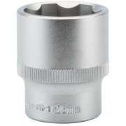 "DRAPER Expert 26mm 1/2"" Square Drive Hi-Torq® Satin Chrome 6 Point Socket : Model No.H6-MM"