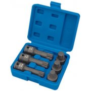 DRAPER Expert 6 piece 1/2in. Sq. Dr. Impact Spline Bit Set: Model No.ISS6