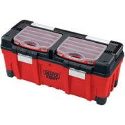 DRAPER Expert 660mm Tool Box with Organisers and Tote Tray: Model No.TB660