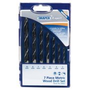 DRAPER Expert 7 Piece Metric Wood Drill Set: Model No.DS7WA