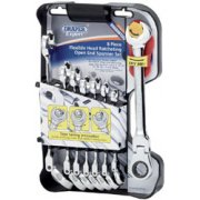 DRAPER Expert 8 piece Draper Expert Hi-Torq ; Metric Flexible Head Double Ratcheting Combination Spanner Set: Model No.8328FMM/8