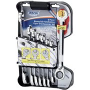 DRAPER Expert 8 piece Draper Expert Hi-Torq ; Metric Reversible Double Ratcheting Combination Spanner Set: Model No.8328RMM/8