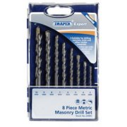 DRAPER Expert 8Pce Masonry Drill Set: Model No.DS8MSA