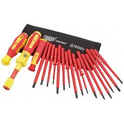 DRAPER Expert Ergo Plus® 19 Piece Interchangeable VDE Torque Screwdriver Set : Model No.965T/19