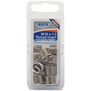 DRAPER Expert M10 x 1.5 Metric Thread Insert Refill Pack (12): Model No.ADHCK-A