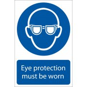 DRAPER 'Eye Protection' Mandatory Sign: Model No.SS03