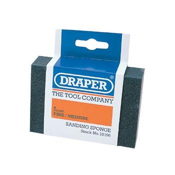 DRAPER Fine - Medium Grit Flexible Sanding Sponge: Model No.SP100FM