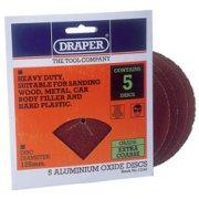 DRAPER Five Extra Coarse Grade Aluminium Oxide Sanding Discs: Model No.694