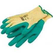 DRAPER Green Heavy Duty Latex Coated Work Gloves - Large: Model No. HDLGA/B