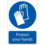 DRAPER 'Hand Protection' Mandatory Sign: Model No.SS06