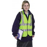 DRAPER High Visibility Extra Large Traffic Waistcoat to EN471 Class 2L : Model No.HVWC