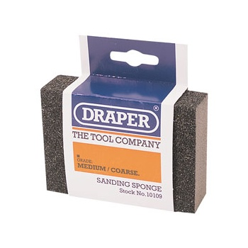 DRAPER Medium - Coarse Grit Flexible Sanding Sponge: Model No.SP100MC