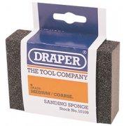 DRAPER Medium - Coarse Grit Flexible Sanding Sponge: Model No.SP100MC