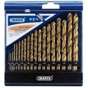 DRAPER Metric HSS Titanium Coated Drill Set (19 Piece): Model No. DS19TB