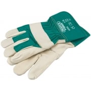 DRAPER Premium Leather Gardening Gloves - L: Model No. PGRGL/B