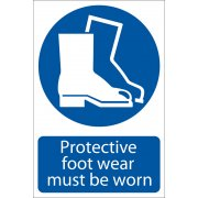 DRAPER 'Protective Footwear' Mandatory Sign: Model No.SS04