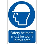 DRAPER 'Safety Helmet' Mandatory Sign: Model No.SS01