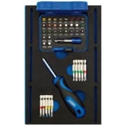 Screwdriver Insert Bits and Driver in 1/4 Drawer EVA Insert Tray (40 Piece): Model No. IT-EVA31