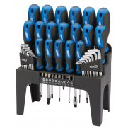 DRAPER Soft Grip Screwdriver, Hex Key and Bit Set (44 piece) : Model No.865/44