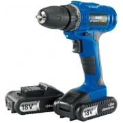 DRAPER Storm Force Cordless Drill with Two Li-ion Batteries (18V)