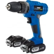 DRAPER Storm Force Cordless Hammer Drill with Two Li-ion Batteries (14.4V)