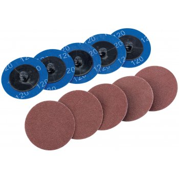DRAPER Ten 50mm 120 Grit Aluminium Oxide Sanding Discs : Model No.SD2AB