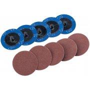 DRAPER Ten 50mm 120 Grit Aluminium Oxide Sanding Discs : Model No.SD2AB