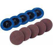 DRAPER Ten 50mm 180 Grit Aluminium Oxide Sanding Discs : Model No.SD2AB