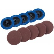 DRAPER Ten 50mm 240 Grit Aluminium Oxide Sanding Discs : Model No.SD2AB