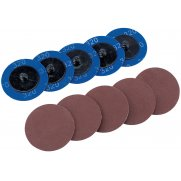 DRAPER Ten 50mm 320 Grit Aluminium Oxide Sanding Discs : Model No.SD2AB