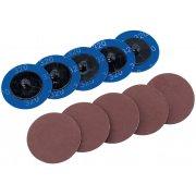 DRAPER Ten 50mm 320 Grit Aluminium Oxide Sanding Discs : Model No.SD2AB