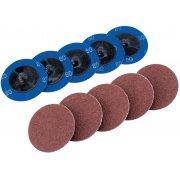 DRAPER Ten 50mm 80 Grit Aluminium Oxide Sanding Discs : Model No.SD2AB