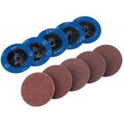 DRAPER Ten 50mm Assorted Aluminium Oxide Sanding Discs : Model No.SD2AB