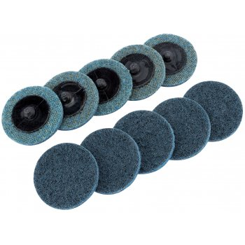 DRAPER Ten 50mm Polycarbide Abrasive Pads (Fine) : Model No.SCP2