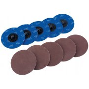 DRAPER Ten 75mm 180 Grit Aluminium Oxide Sanding Discs : Model No.SD3AB