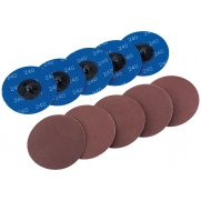 DRAPER Ten 75mm 240 Grit Aluminium Oxide Sanding Discs : Model No.SD3AB