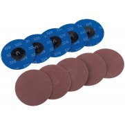 DRAPER Ten 75mm 320 Grit Aluminium Oxide Sanding Discs : Model No.SD3AB