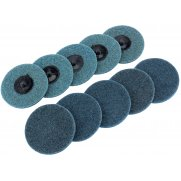 DRAPER Ten 75mm Polycarbide Abrasive Pads (Fine) : Model No.SCP3