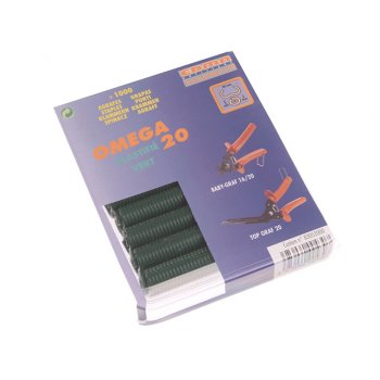 Edma Green Coated Steel Hog Ring Omega 20(1000)