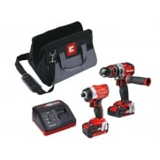 Einhell Power-X-Change Brushless Twin Pack 18 Volt 1 x 2.0Ah & 1 x 4.0Ah Li-Ion