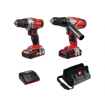 Einhell Power-X-Change Combi & Drill Driver Twin Pack 18 Volt 2 x 1.5Ah Li-Ion Model No. 42.572.00