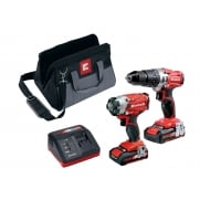 Einhell Power-X-Change Combi & Drill Driver Twin Pack 18 Volt 2 x 2.0Ah Li-Ion