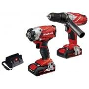 Power-X-Change Combi & Impact Driver Twin Pack 18 Volt 2 x 1.5Ah Li-Ion