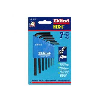 Eklind Hexagon Key Short Arm Set of 7 Metric (1.5-6mm)