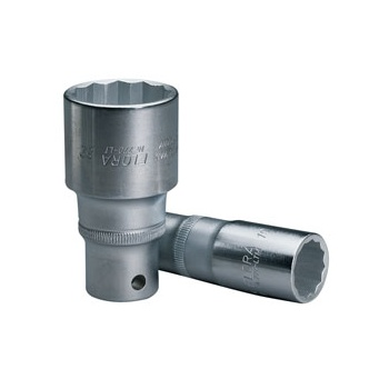 ELORA 14mm 1/2in. Square Drive Deep Bi-Hexagon Socket: Model No.770-LT