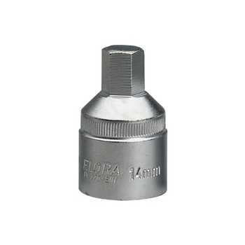 ELORA 14mm 3/4in. Square Drive Hexagon Screwdriver Socket: Model No.770-SIN