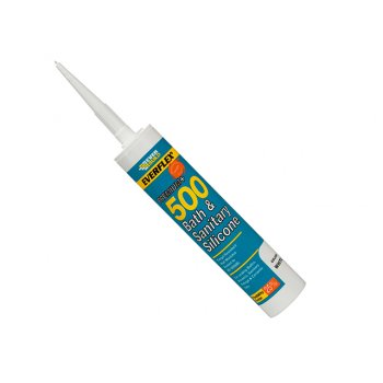 Everbuild Bath & Sanitary Silicone Sealant White 310ml 500