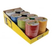 Everbuild Electrical Insulation Tape 19mm x 33M Display of 42 Assorted Colours