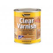 Everbuild Quick Dry Wood Varnish Satin Clear 750ml