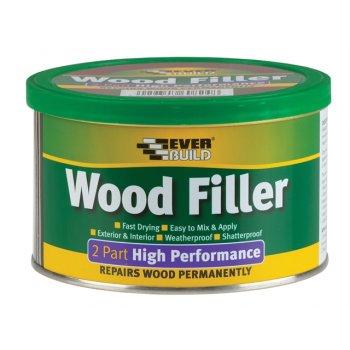 Everbuild Wood Filler High Performance 2 Part Oak 500g